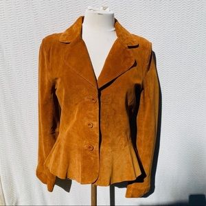 Wilson Leather Brick Color 100% Suede Jacket M